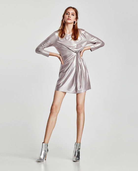 Zara metallic dress